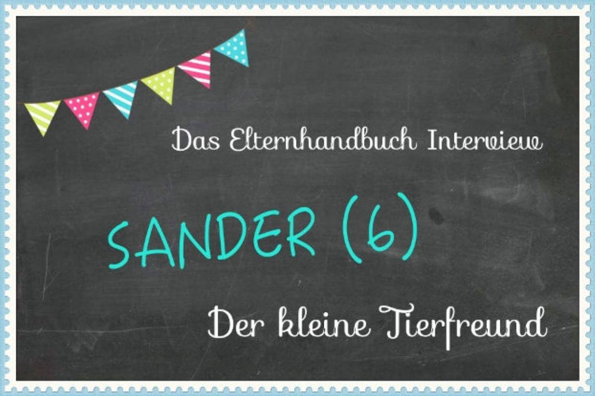 Sander (6) aus Hamburg. Der kleine Tierfreund !