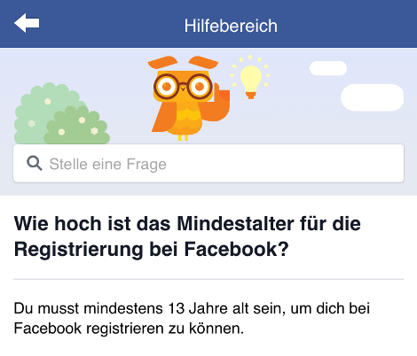 Mindestalter Facebook