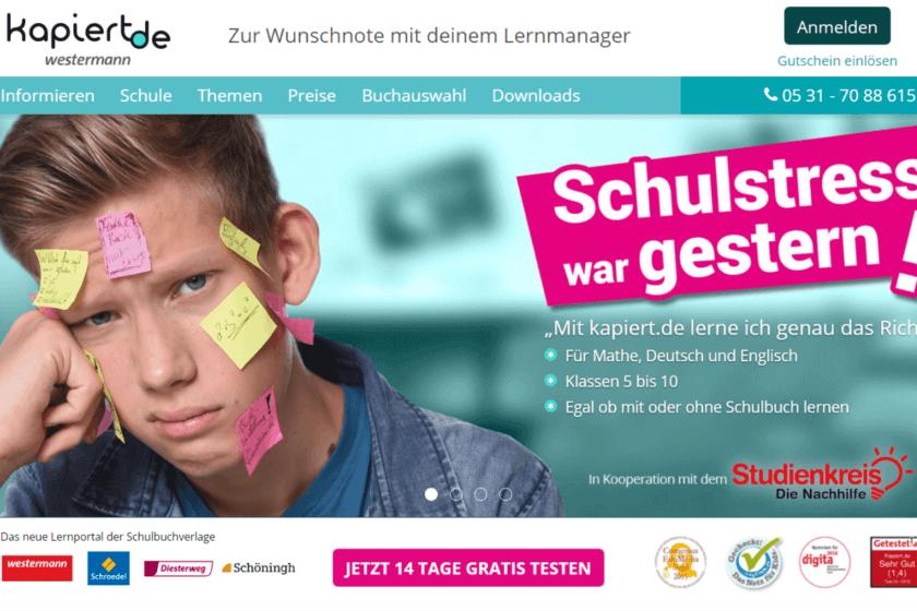 Online-Nachhilfe kapiert.de