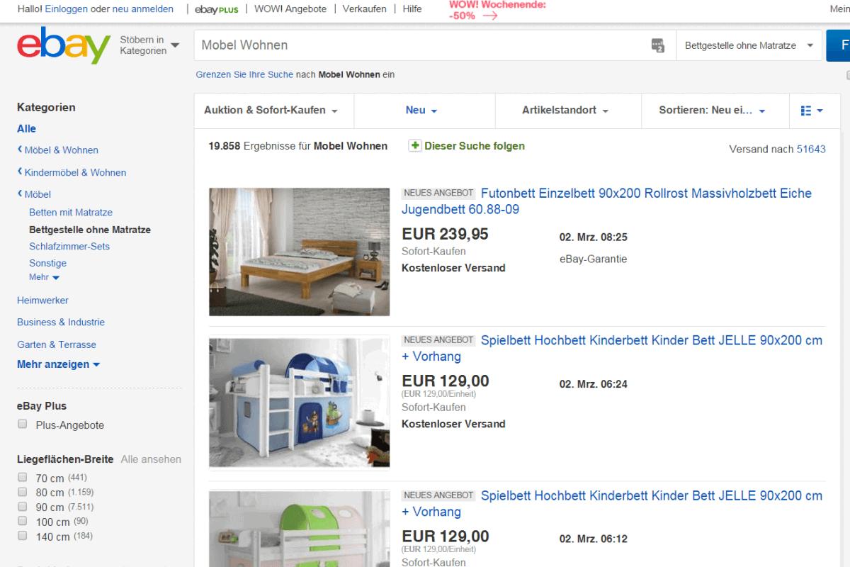 eBay - Jugendzimmer