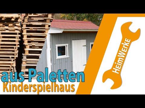 Kinderspielhaus aus Paletten und Schrottholz selber bauen