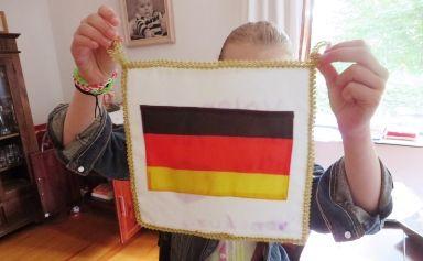Die fertige Fahne