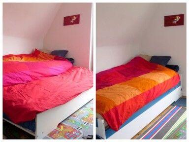 Bett vorher & nachher