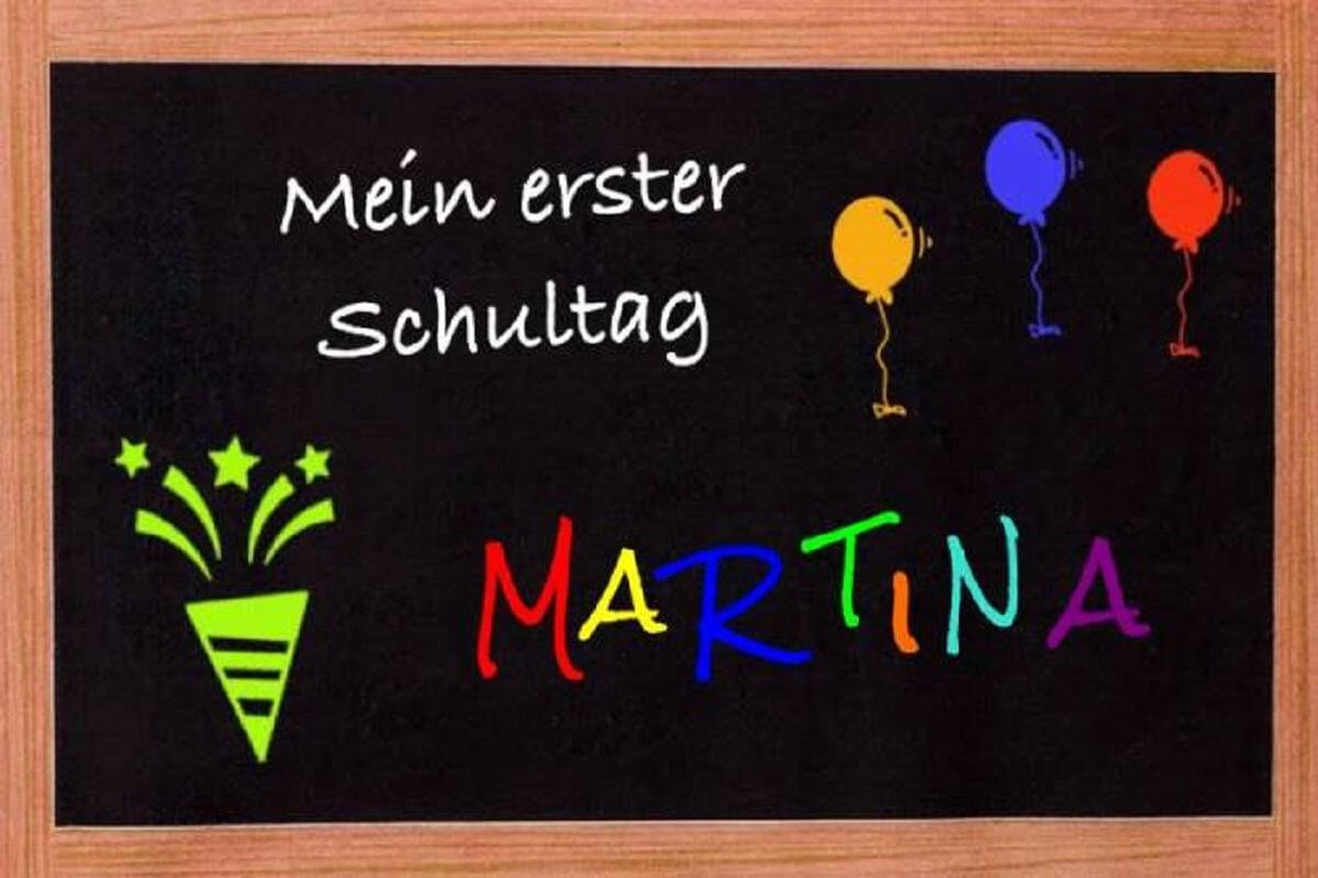Erster Schultag Martina