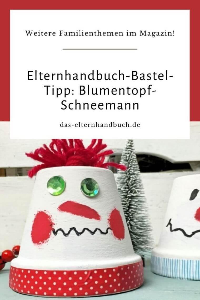 Blumentopf-Schneemann