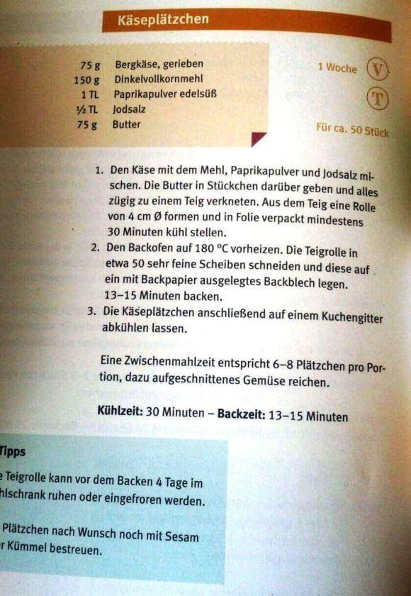 Käseplätzchen-Rezept
