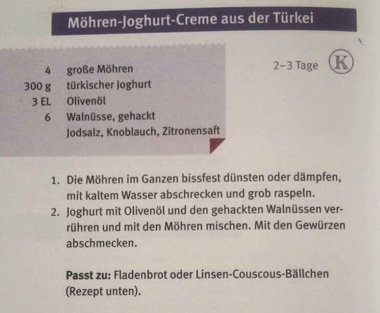 Möhren-Joghurt-Creme-Rezept