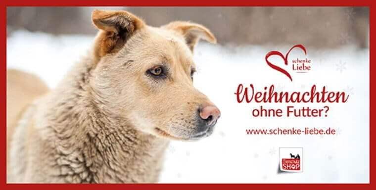 Weihnachtsaktion Tierschutz Shop