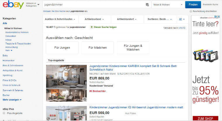 Ebay jugendzimmer for Jugendzimmer ebay
