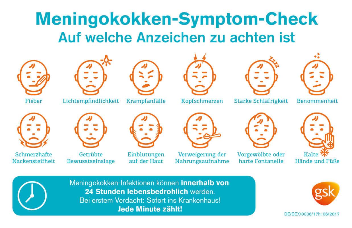 Meningokokken-Symptom-Check