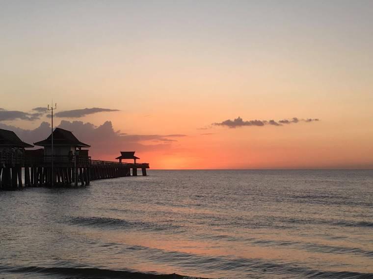 Sonnenuntergang Naples