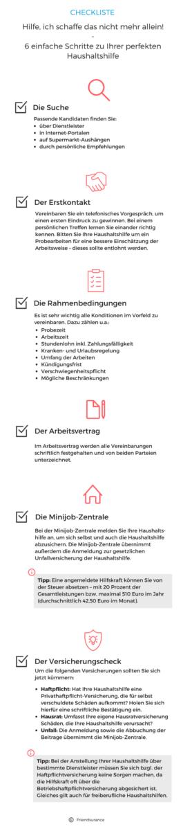 Haushaltshilfe - Checkliste
