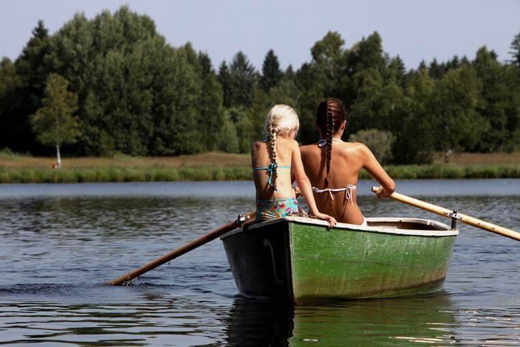 Ruderboot fahren / Soier See
