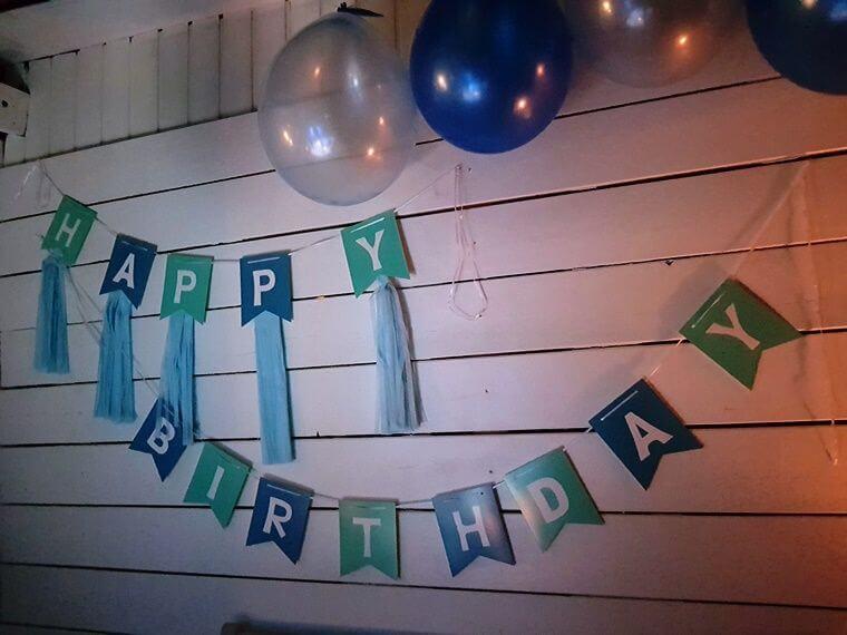 Geburtstags-Dekoration :-)