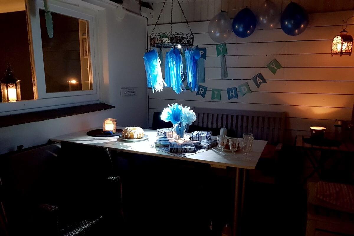 Terrasse Geburtstag