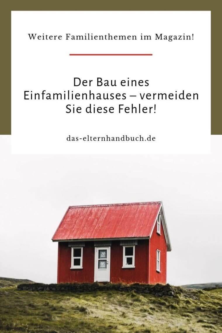 Hausbau, Einfamilienhaus