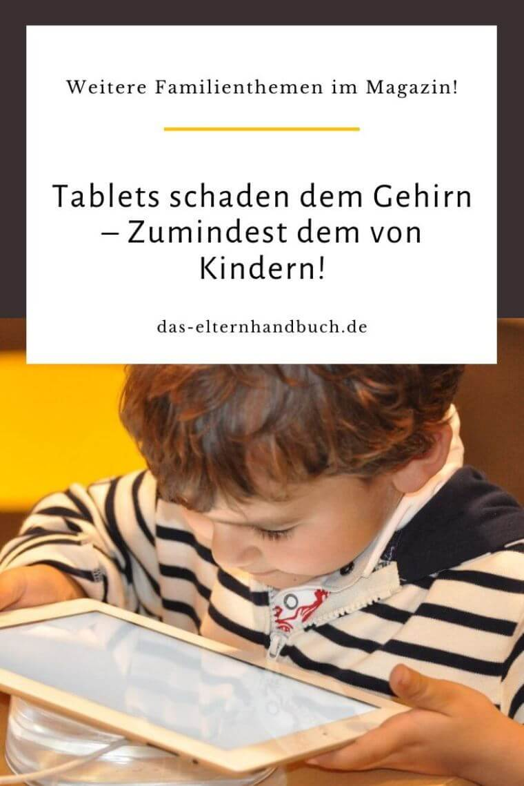 Tablets schaden dem Gehirn