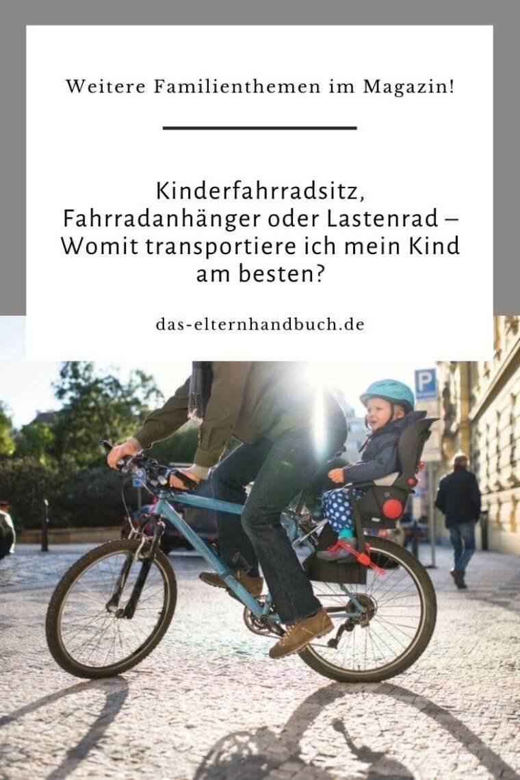 Kinderfahrradsitz, Fahrradanhänger, Lastenrad