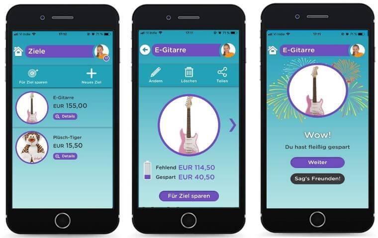Finny-App: Sparziele